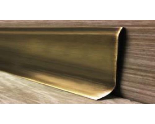 Плинтус латунный ПТЛ (Латунь античная бронза) и (Латунь полированная)