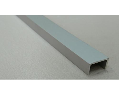 Профиль алюминиевый П-образный П-6*6*6 (Серебро матовое)