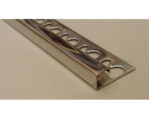 Раскладка для плитки нержавеющая сталь П-образная Progress Profiles PJQACS