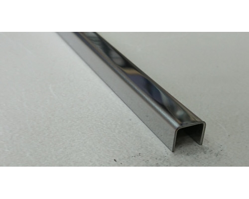 Профиль П-образный нержавеющая сталь STP-10*10*10